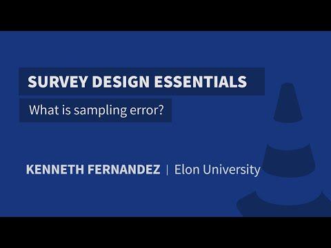 What is sampling error?
