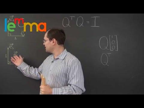 Linear Algebra 21j: Two Geometric Interpretations of Orthogonal Matrices