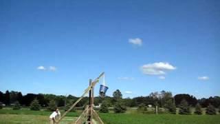 Homemade Trebuchet Launch