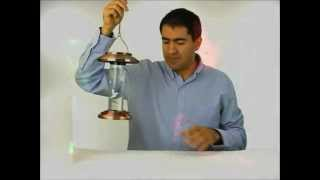 Solar-powered Lighted Hummingbird Feeder