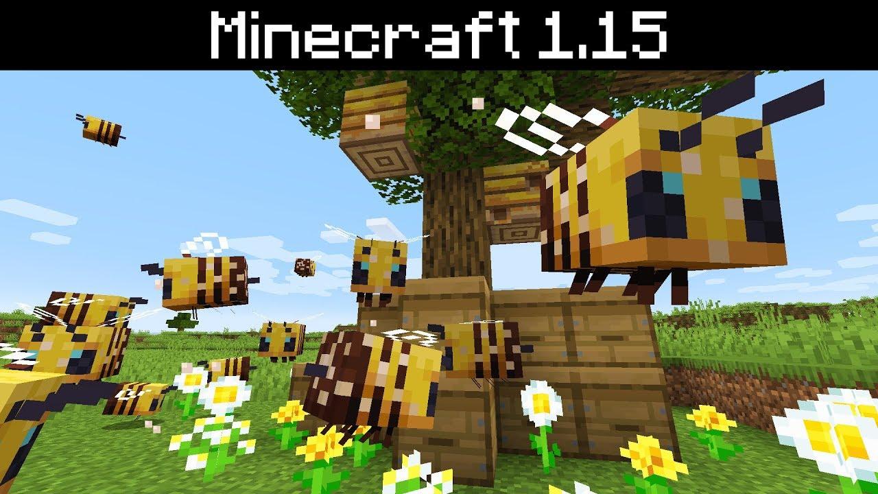 Minecraft 1 15 Bees Bee Hives Nests Honey Breeding And Behaviors