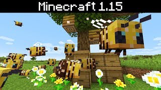 Minecraft 1.15 - Bees, Bee Hives / Nests, Honey, Breeding and Behaviors