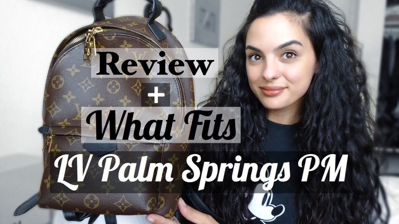 bfd3f41ef6 Louis Vuitton Palm Springs Backpack PM Review+What Fits   elle be