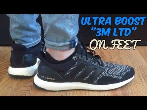 242a05e244dbd Adidas ULTRA BOOST  LTD REFLECTIVE 3M  1.0 ON FEET - YouTube
