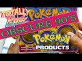 Opening Obscure 90's Pokemon Products!