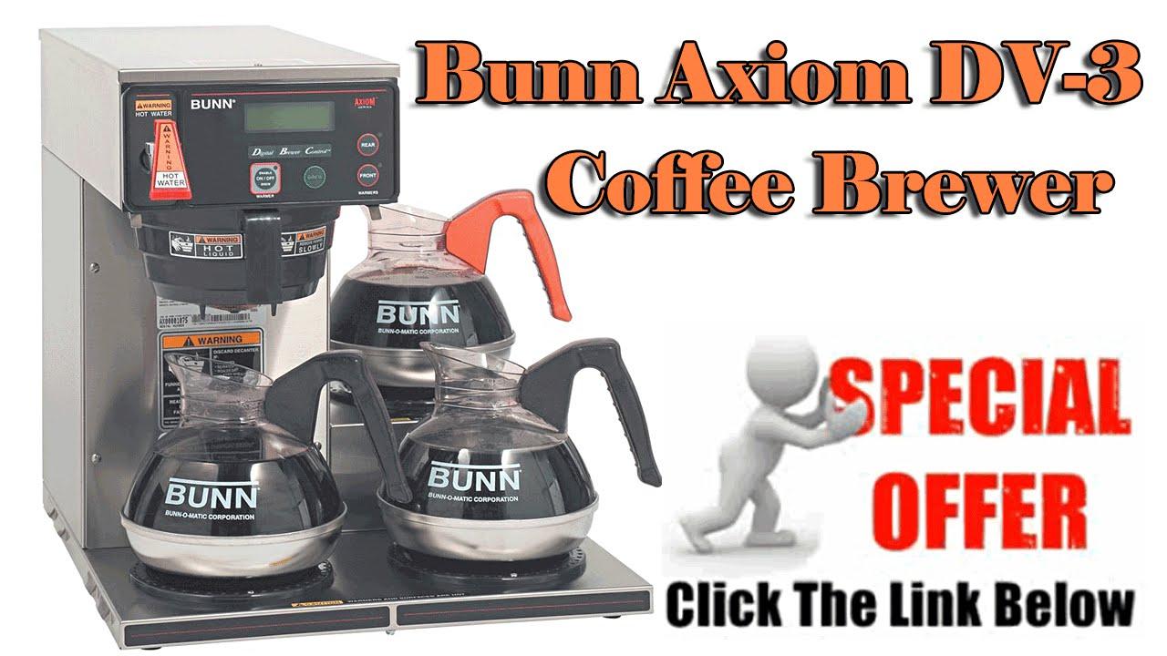 bunn coffee brewer bunn axiom dv 3 - Bunn Coffee