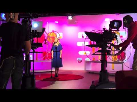 Studio footage of Sioned Terry's TV appearance on Heno.