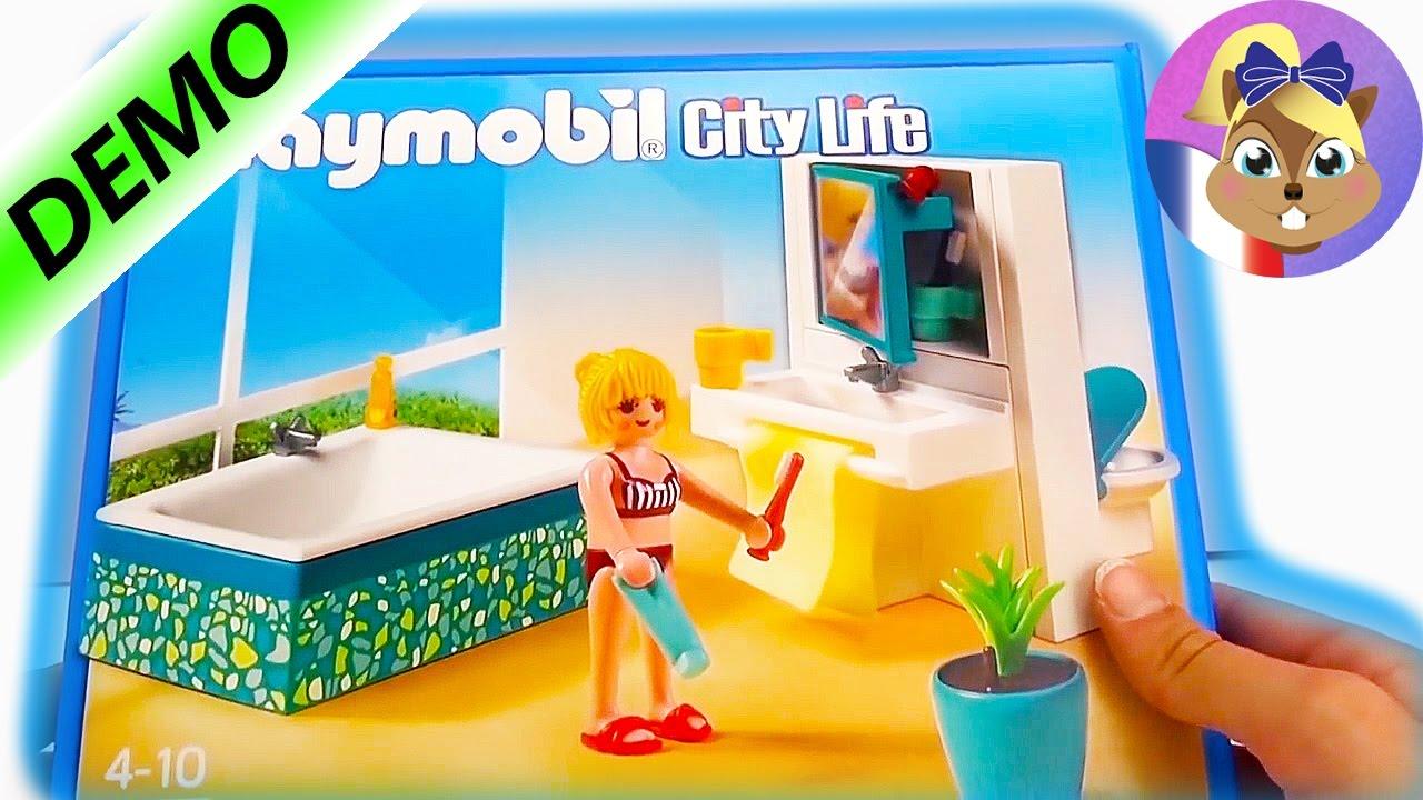 bain playmobil salle de bain playmobil city life sortie de boite demo bath bathroom