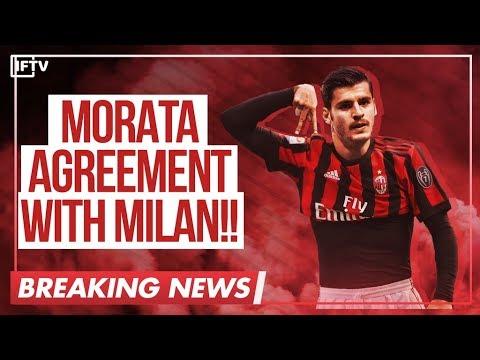 ALVARO MORATA • VERY CLOSE TO JOINING AC MILAN!! • AC MILAN TRANSFER NEWS