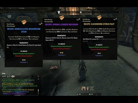 How To Get Gold Recipes In Eso