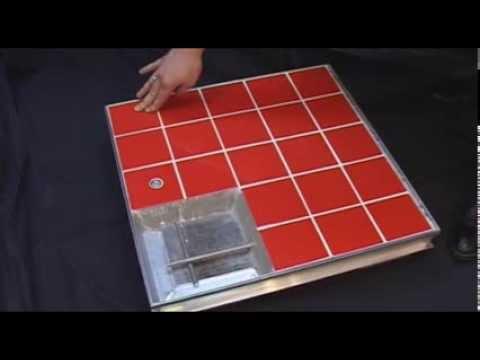 Потайной напольный люк под плитку 145х82 см - YouTube
