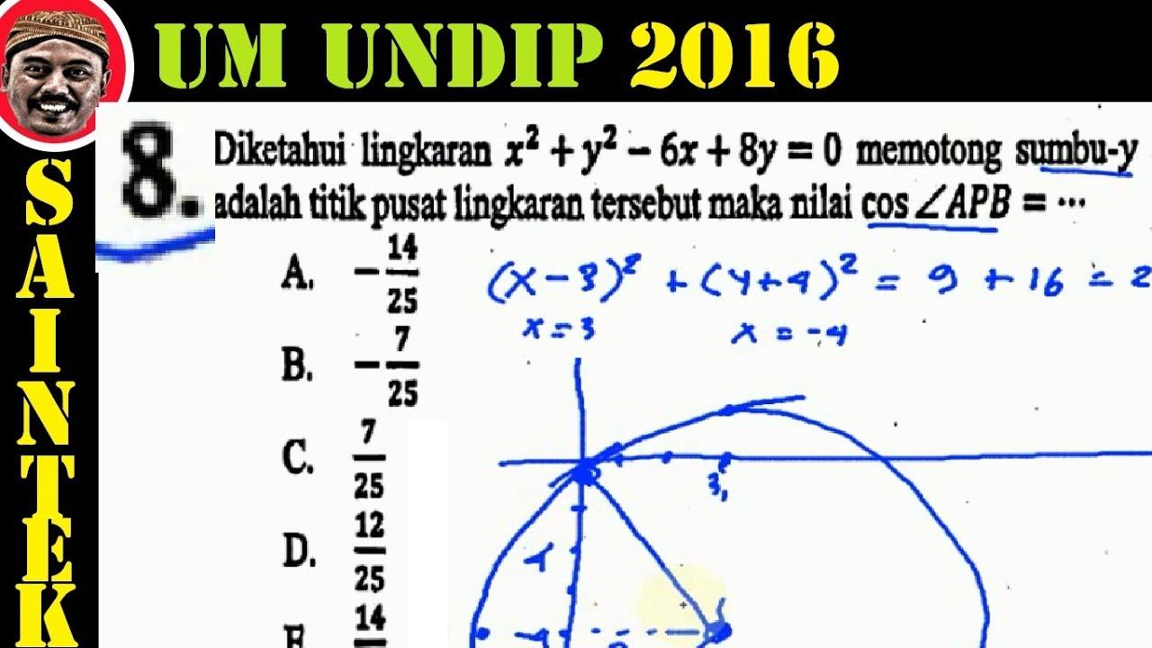 UM UNDIP 2016 ,saintek (555) , Matematika Dasar