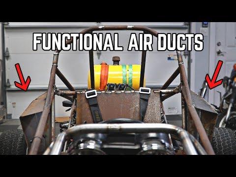 Fabricating Air Scoops, Firewall, Dash, Fan | Cross Kart Build