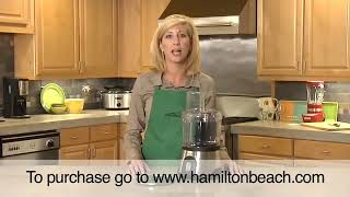 Hamilton Beach® 10 Cup Food Processor with Compact Storage (70760)