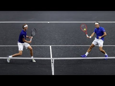 Federer/Zverev Vs Isner/Sock - Laver Cup 2018 Highlights 59fps (HD)