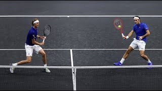 Federer/Zverev vs Isner/Sock - Laver Cup 2018 Highlights 59fps (HD)