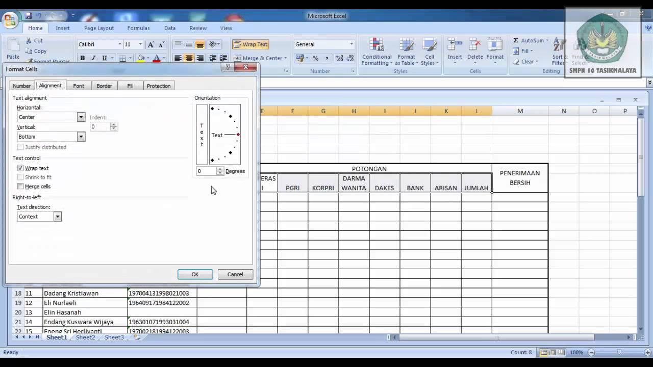 Contoh Slip Gaji Bulanan Beserta File Excel Siap Download