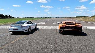 RACE! LAMBORGHINI AVENTADOR SV VS PORSCHE 911 TURBO S!