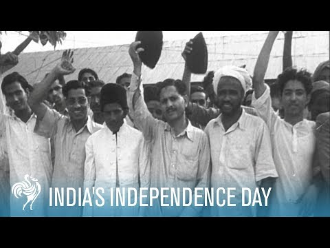 India's Independence Day: The Arrival of Earl Mountbatten (1947)   British Pathé
