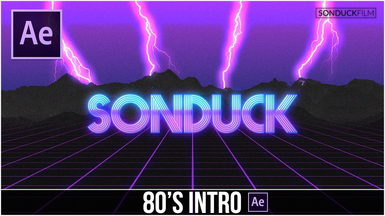 After Effects Tutorial: 80'S Style Retro Intro