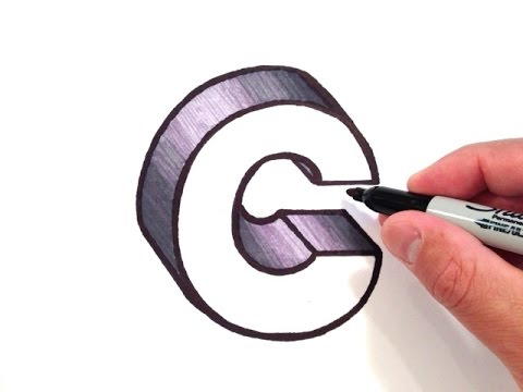 How to Draw the Letter C in 3D   YouTube