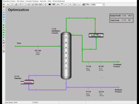 Simulation Solutions Distillation Simulator