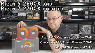 Ryzen 5 2600X and Ryzen 7 2700X unboxed (with some X470 mobos!)