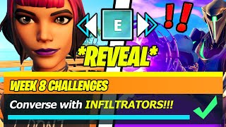 Converse with characters to identify an Infiltrator (WORKING LOCATIONS) - Fortnite