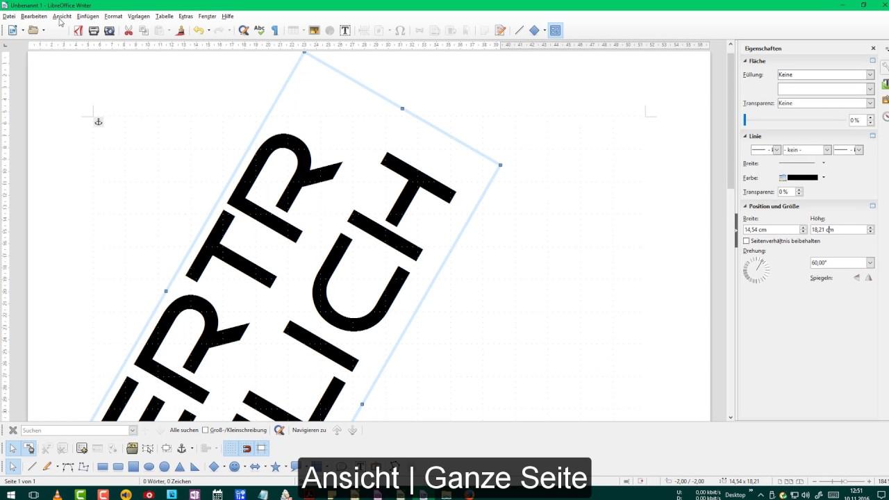 Libreoffice Ein Wasserzeichen Einfügen Deutsch Youtube