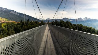 Suspension Bridge in Switzerland | Panorama Bridge Sigriswil | Sigriswil Switzerland
