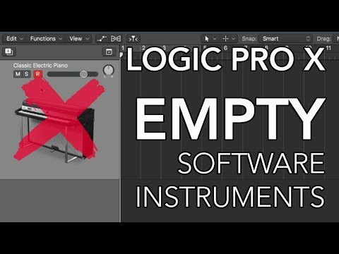Logic Pro X - Create EMPTY Software Instrument Tracks