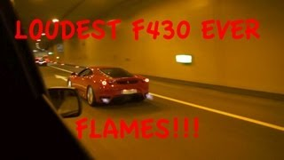 One Day with the loudest Ferrari F430 ever - Movie (FLAMES, Brutal accelerations..)