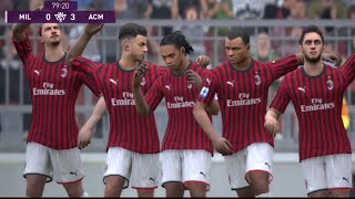 AC MILAN LEGENDS 1984 VS AC MILAN 2020 GAMEPLAY 1080HD COMMENTARY MALAYSIA DALAM PES MOBILE 2020