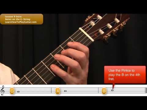 learning the notes on guitar notes on the g string intro youtube. Black Bedroom Furniture Sets. Home Design Ideas
