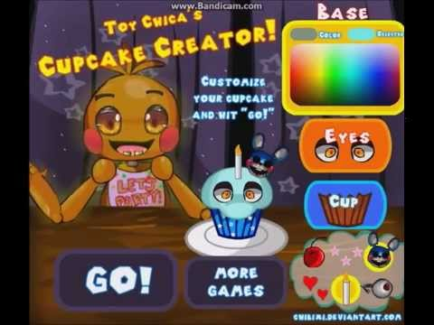 Toy Chica's Cupcake Creator! - FNAF FLASH GAME by Chibixi (Creepy Cupcake  Surprise)