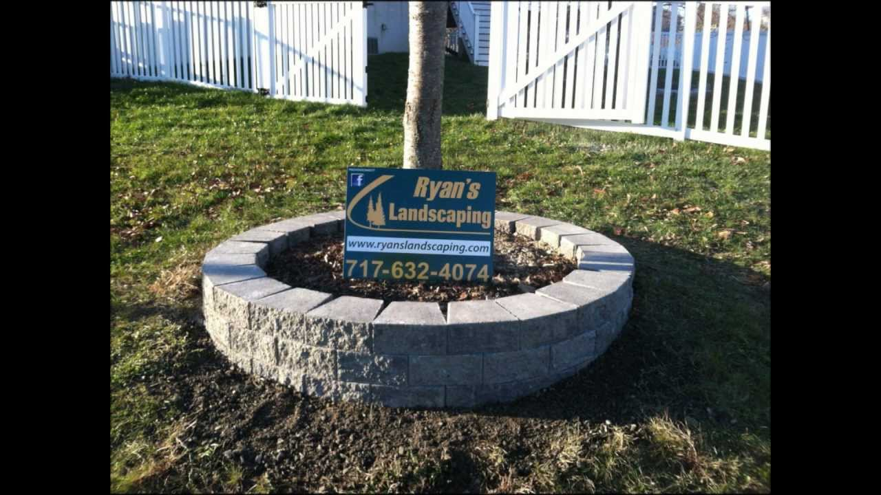 Small Landscape Construction Of Retaining Wall Block Installation Hanover Pa Ryan S Landscaping