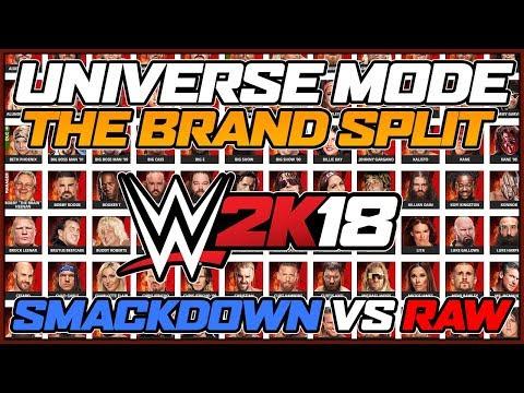 WWE 2k18 Universe Mode - The Brand Split - The Draft
