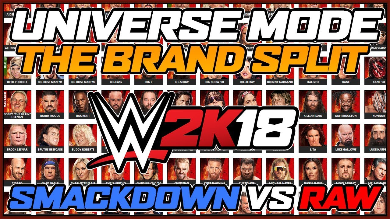 WWE 2k18 Universe Mode - The Brand Split - The Draft