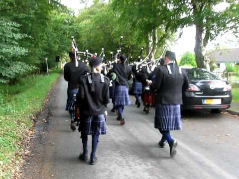 Lochalsh Junior Pipe Band at Drams in the Field, Glenelg, Scotland, Sep. 09