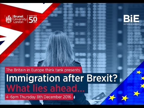 What Lies Ahead? Immigration after Brexit
