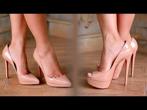 Nude women in heels