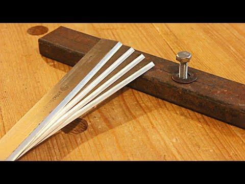 Удобное приспособление для заточки ножей фуганка или рейсмуса