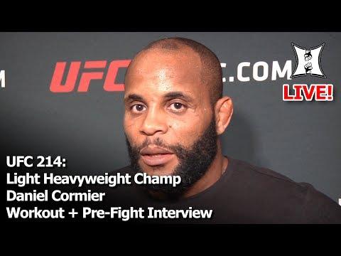 UFC 214: UFC LHW Champ Daniel Cormier Open Media Workout (LIVE!)