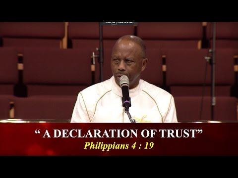 """A Declaration Of Trust"""
