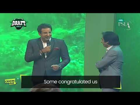 What Wasim said when Ahmed Shahzad was picked by Multan Sultans