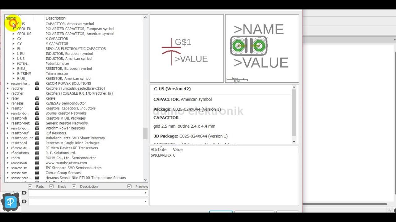 Cara Membuat Schematic Arduino Sederhana di EAGLE 9.0.1