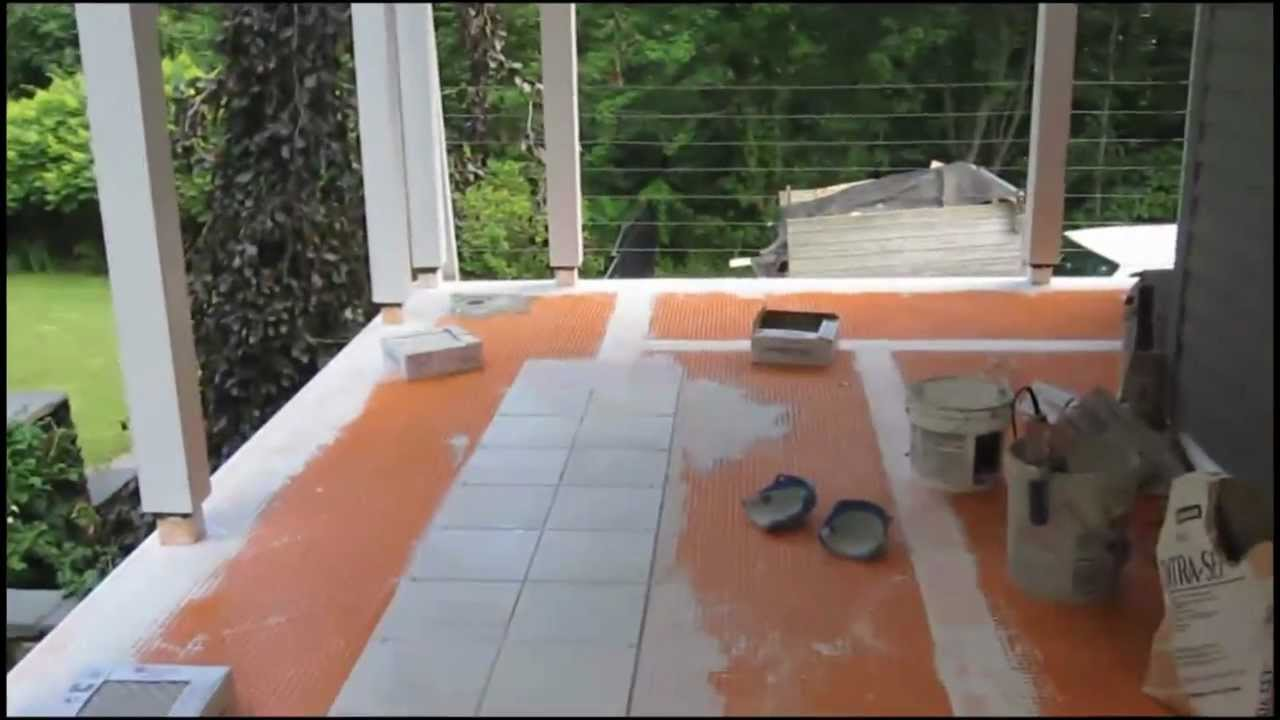 How to install tile on screened in two season room deck youtube doublecrazyfo Image collections