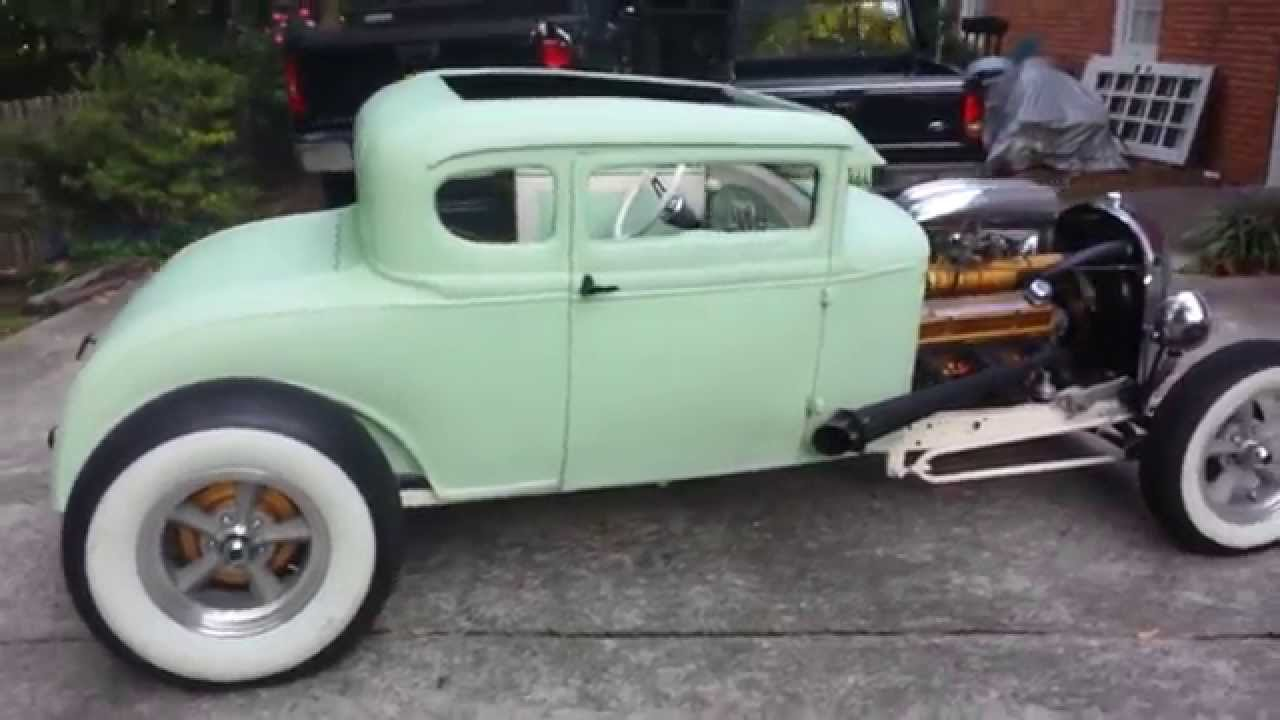 1930 Ford Model A Coupe Hot Rod - YouTube