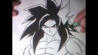 Re-Drawing SS4 Goku