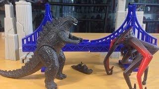 Godzilla 2014 Destruction City Mini Playset Bandai America Toy Review